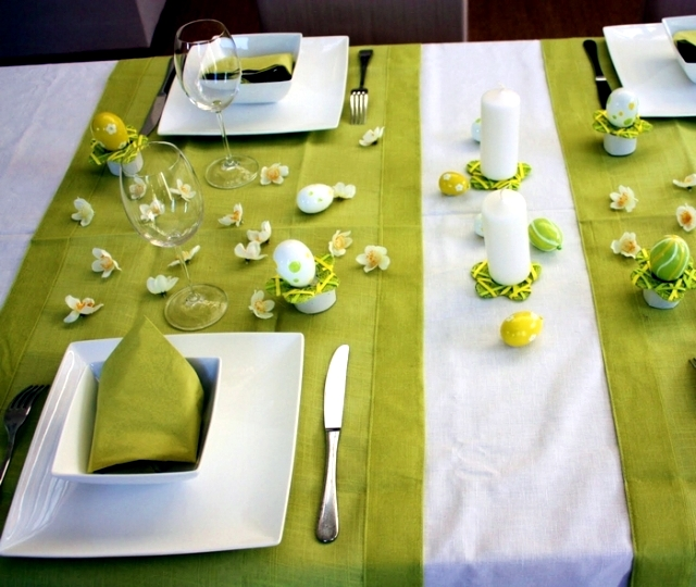Table De Jardin 8 10 Personnes Spring Colors For The Easter Table Decoration – Green And