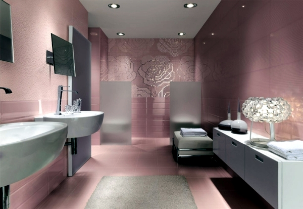 Large Bathroom Mirror Mosaic Tiles For Bathroom – Ideas For 15 Models And Types