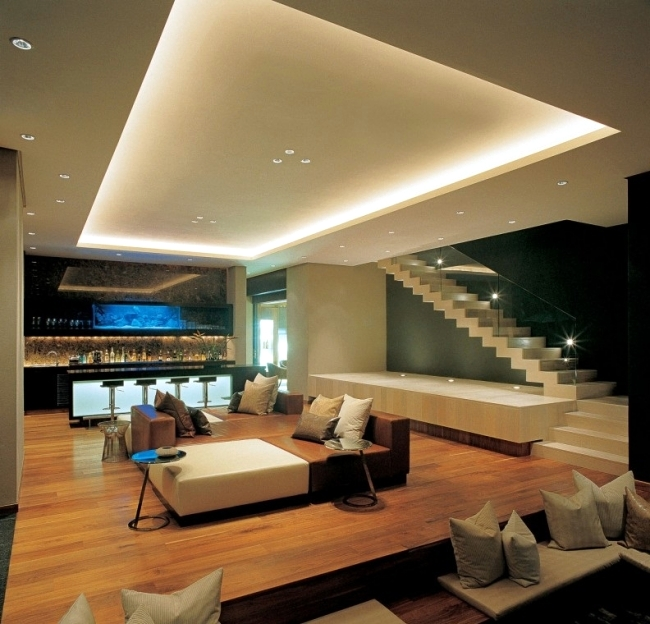 Moderne Beleuchtung 33 Ideas For Ceiling Lighting And Indirect Effects Of Led ...