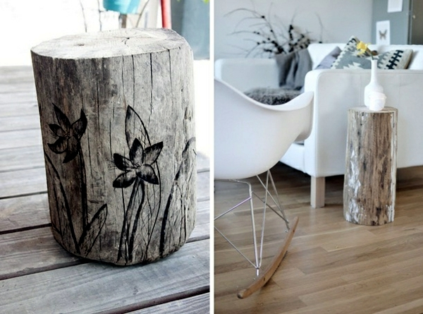 Couchtisch Aus Holzfass Of Decoration And Furniture From Tree Trunk Itself – 15