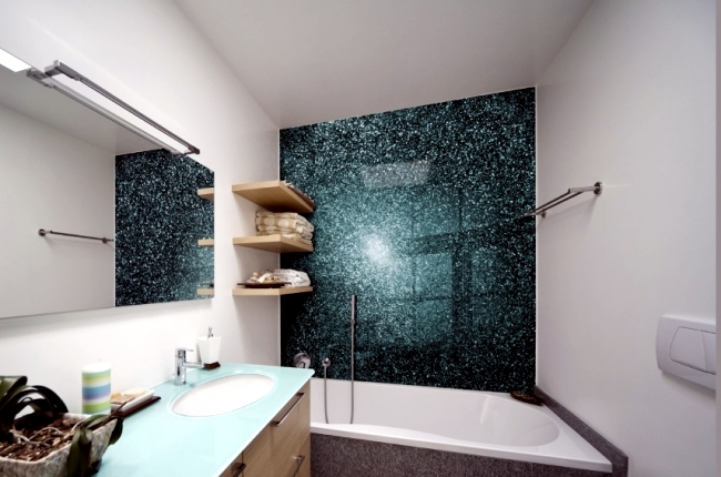 Glaspaneele Bad Without Bathroom Tiles – Ideas For Free Tiles Wall