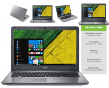 Notebook Acer Intel Core i7 7ª Geração 16GB 2TB GEFORCE 940MX 2GB Aspire F F5-573G-74DT