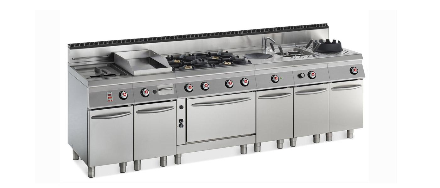 cucine a gas professionali con e senza forno