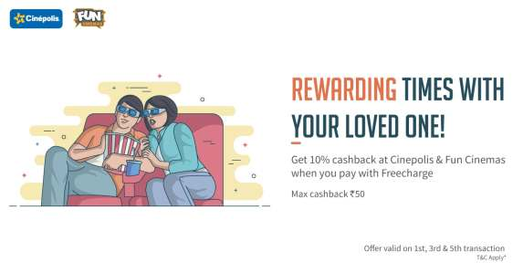 Cinepolis & Fun Cinemas freecharge