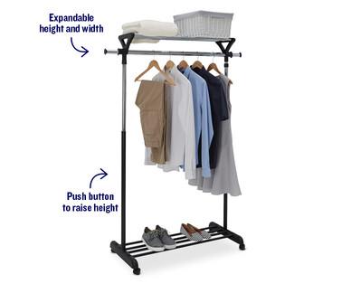 Easy Home Garment Rack With Shelf Aldi Usa Specials