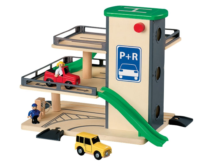 Playtive Junior Wooden Port Parking Garage Airport Or