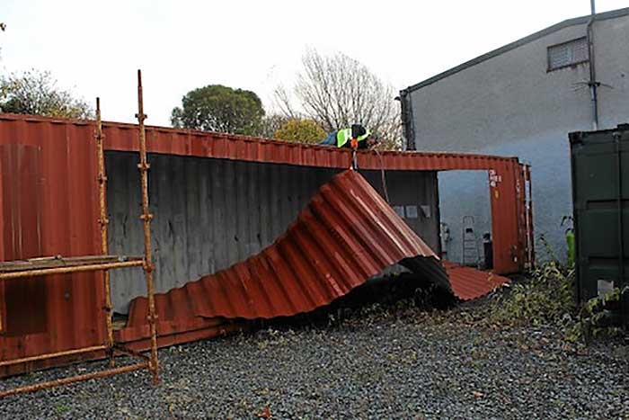 Ireland39s First Shipping Container Home Built In 3 Days