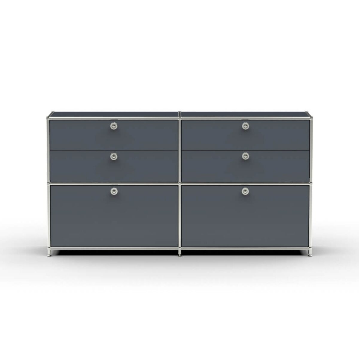 Chrom- Glas Regale Design Sideboard T22