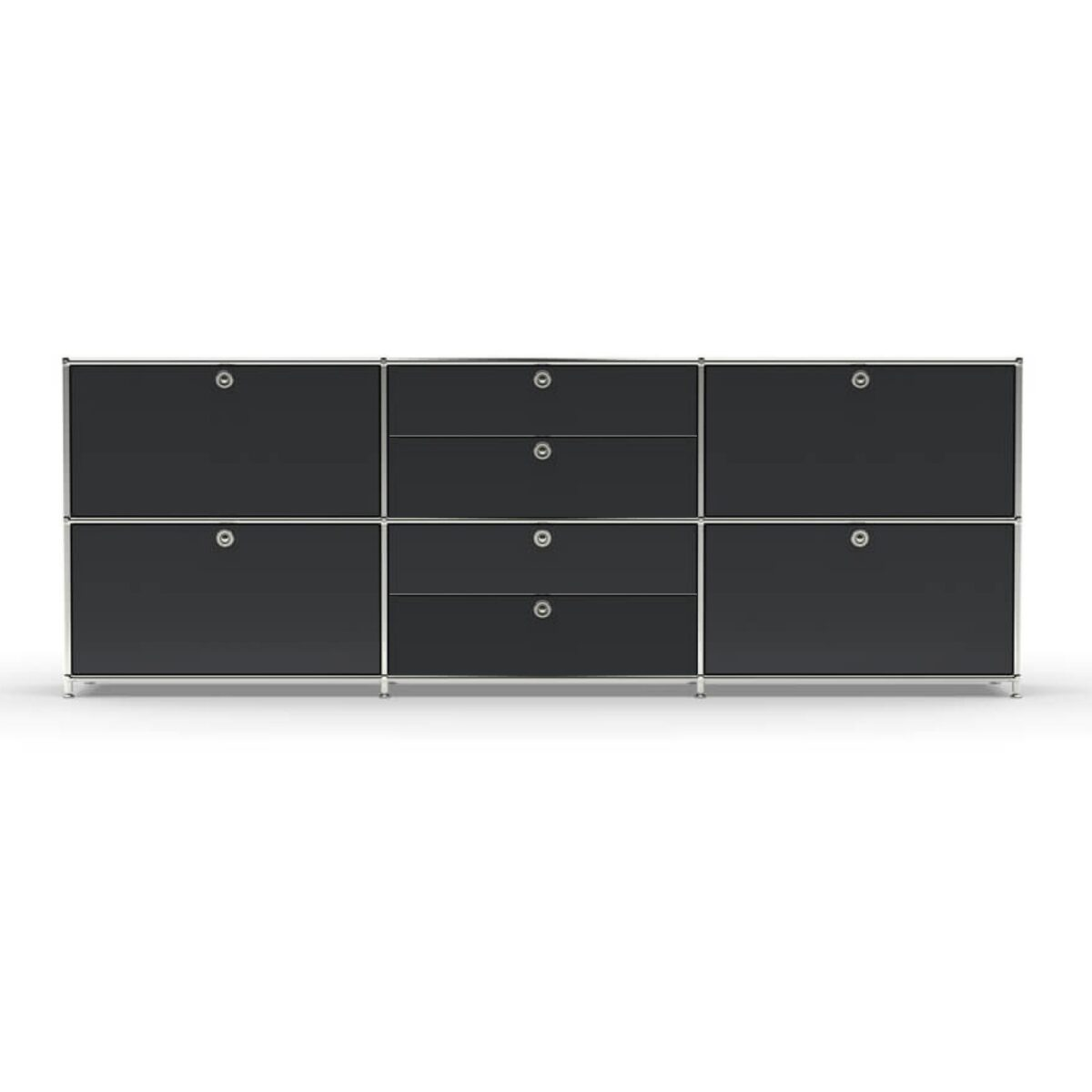 Chrom- Glas Regale Design Sideboard T32