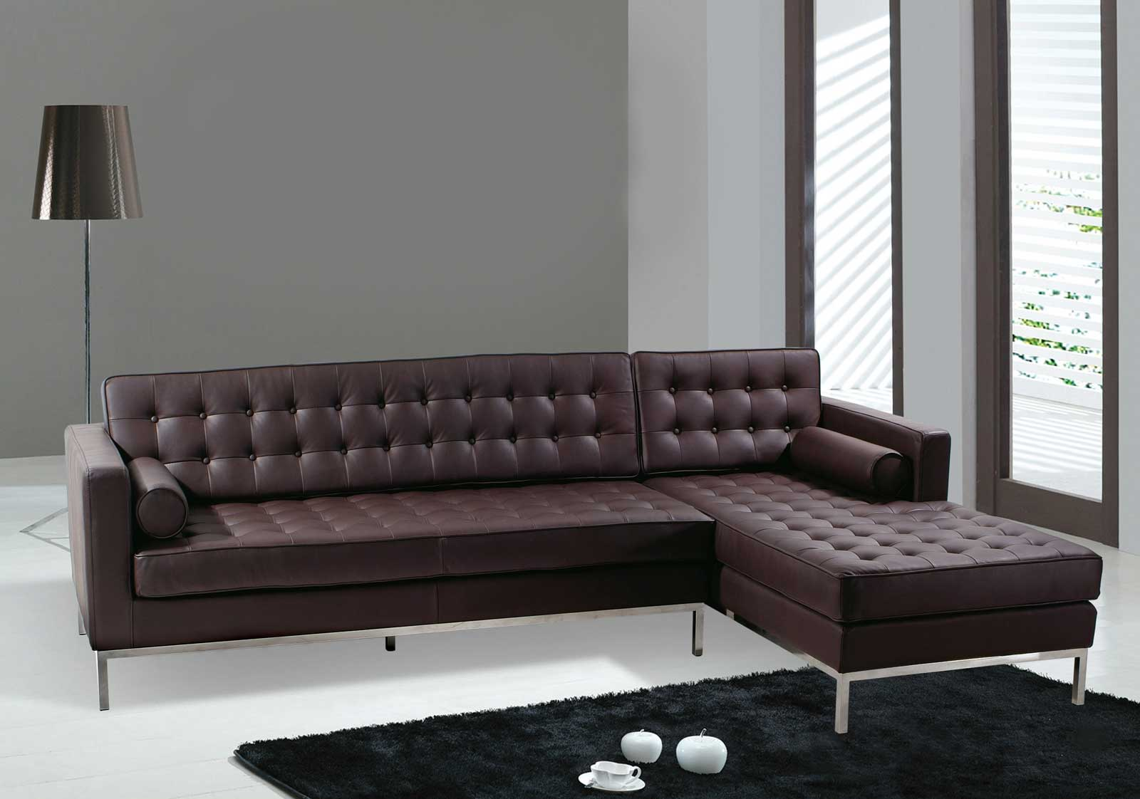 Contemporary Leather Furniture Santa Fe Contemporary Leather Sofa Bed