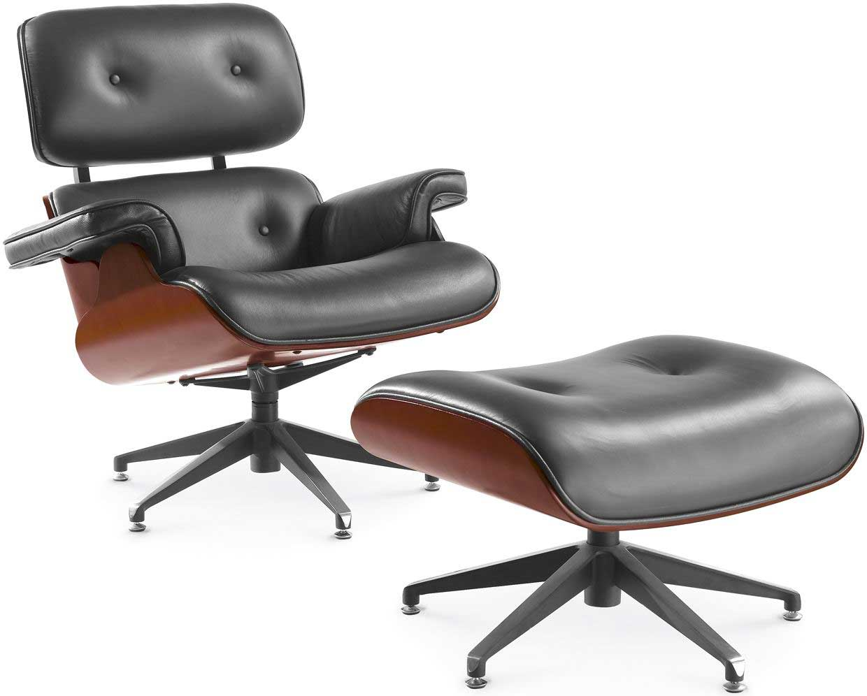 Lounge Desk Chair Contemporary Leather Swivel Armchair Office Furniture