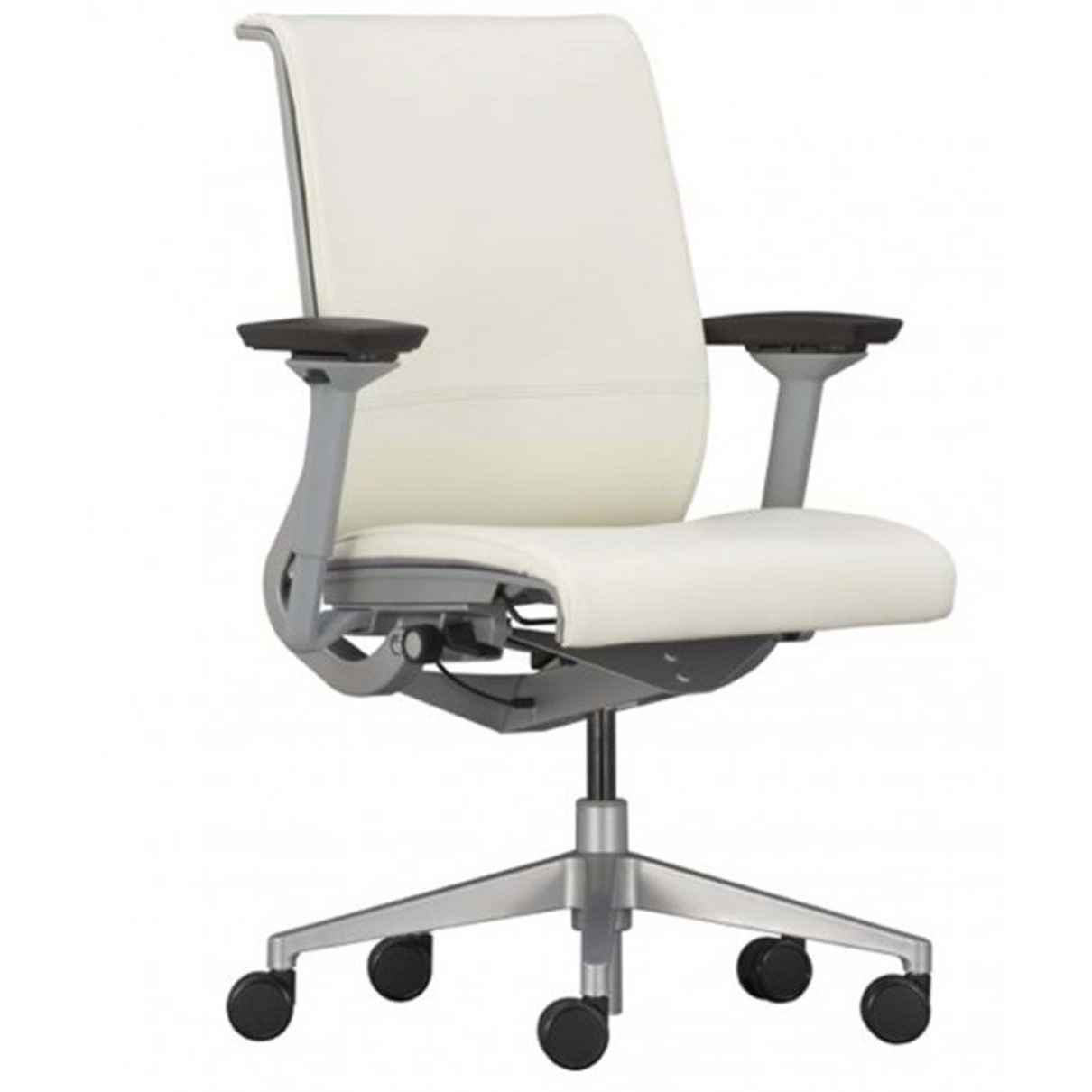 Office Chair White White Leather Desk Chair Office Furniture