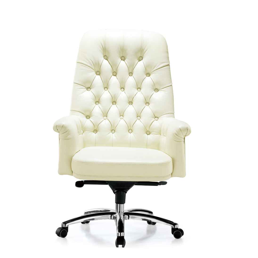 White Desk And Chair White Leather Desk Chair Office Furniture