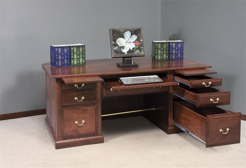 Solid Wood Executive Office Furniture With Amish Touch