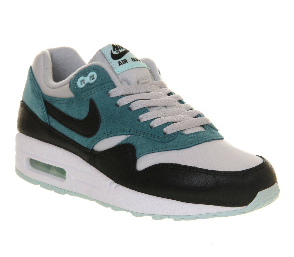 Nike Zoom Grey And Green Air Max 1
