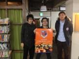 IT関連で知り合いの長谷川さんの従兄弟が大宮アルディージャの選手としりまして、来ていただきました。ありがとうございます!