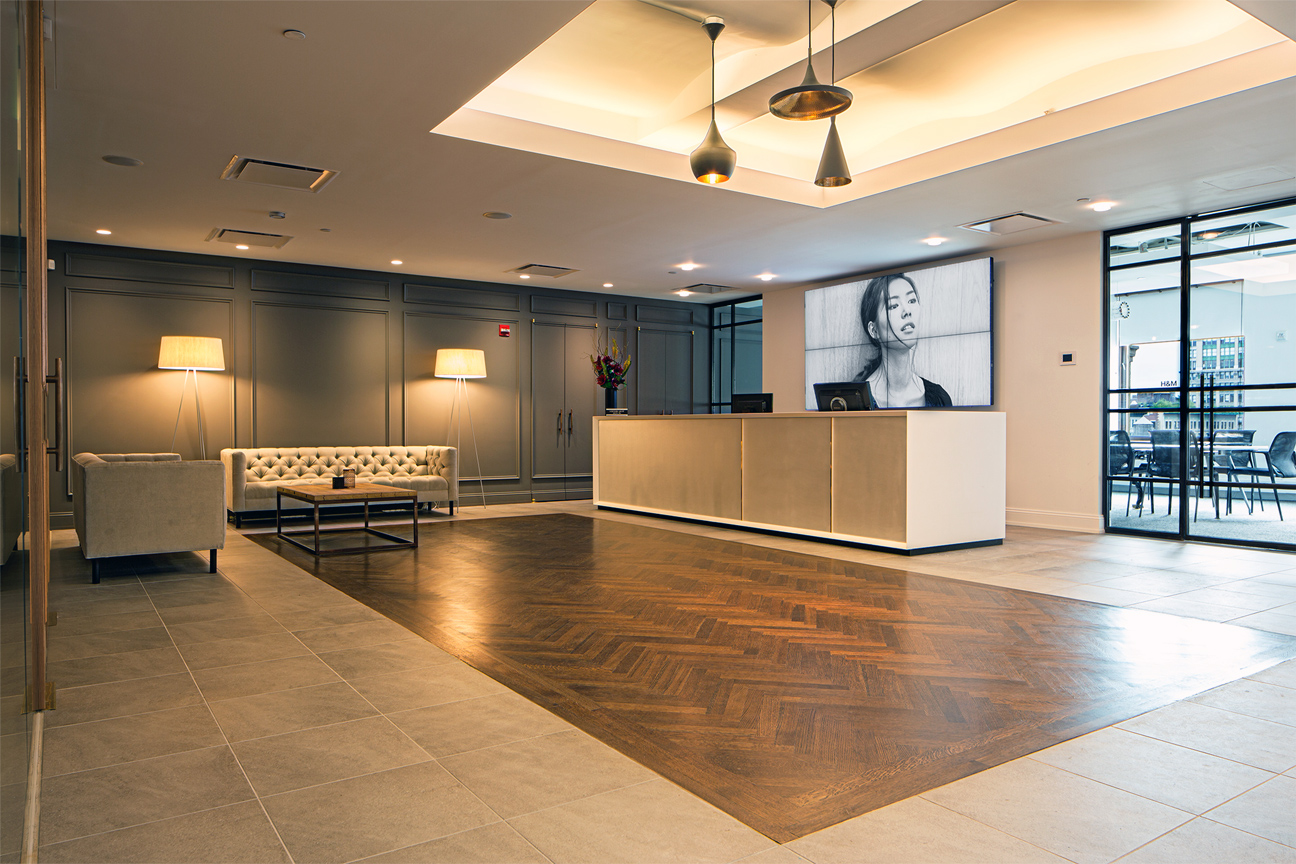 Executive Office Reception Design Office Ao Architecture Pllc