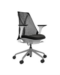 Herman Miller Sayl Chair, White, Gray, Black, Adjustable ...