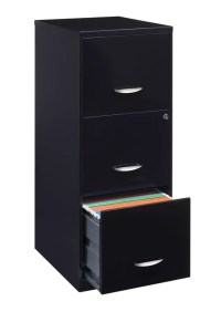 Realspace 18 D 3 Drawer Vertical File Cabinet Black by ...