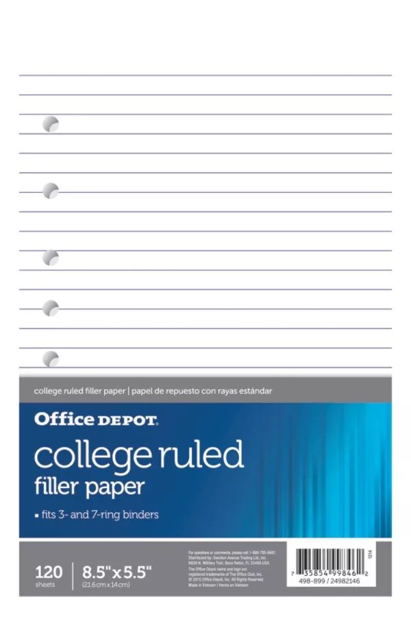 graph paper notebook office depot