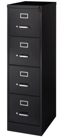 Realspace 22 D 4 Drawer Vertical File Cabinet Black by ...