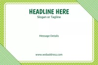 Custom Floor Decal Template Green Checks by Office Depot ...