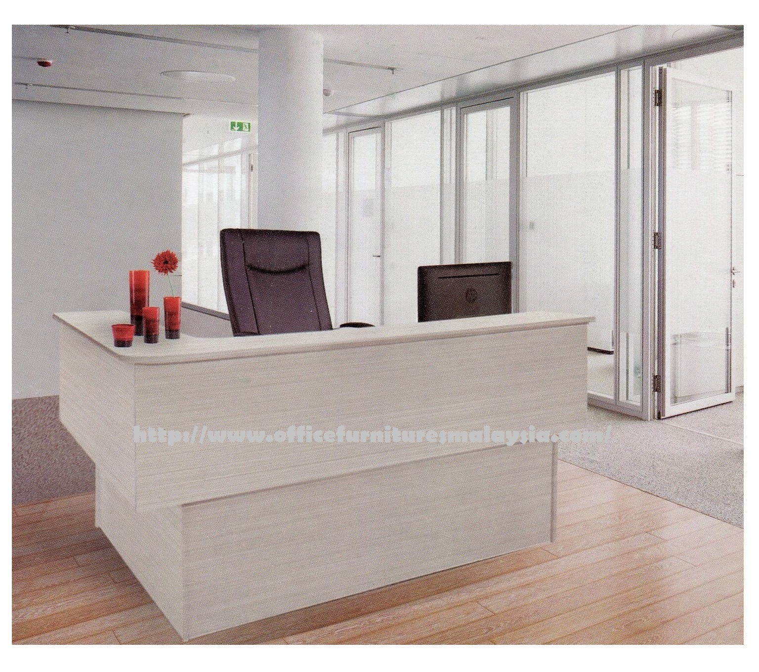Sofa Helpdesk Office Reception Counter Table Desk Office Furnitures