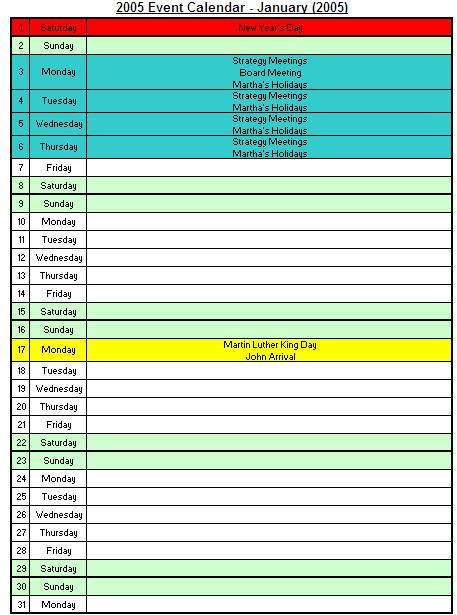 12month calendar
