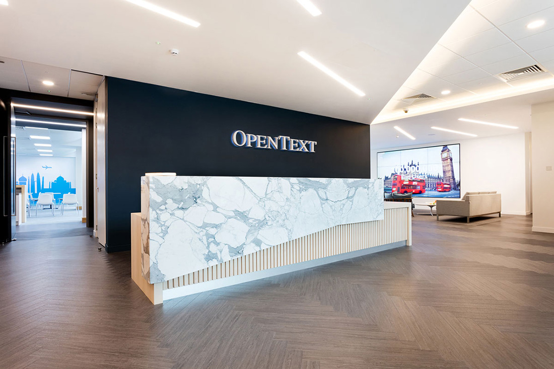 Interior Design Firms San Diego Inside Opentext's New Office In Reading - Officelovin