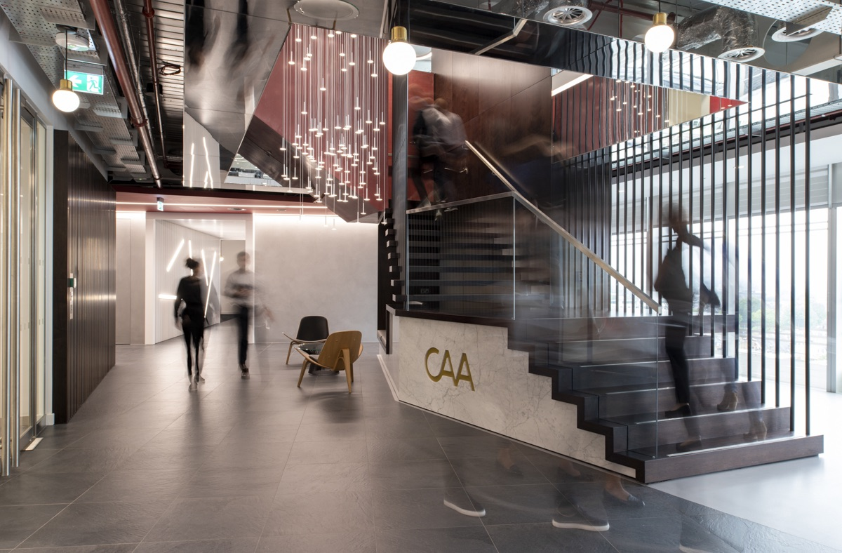 Creative Office Reception Design A Tour Of Creative Artists Agency S Stylish London Office