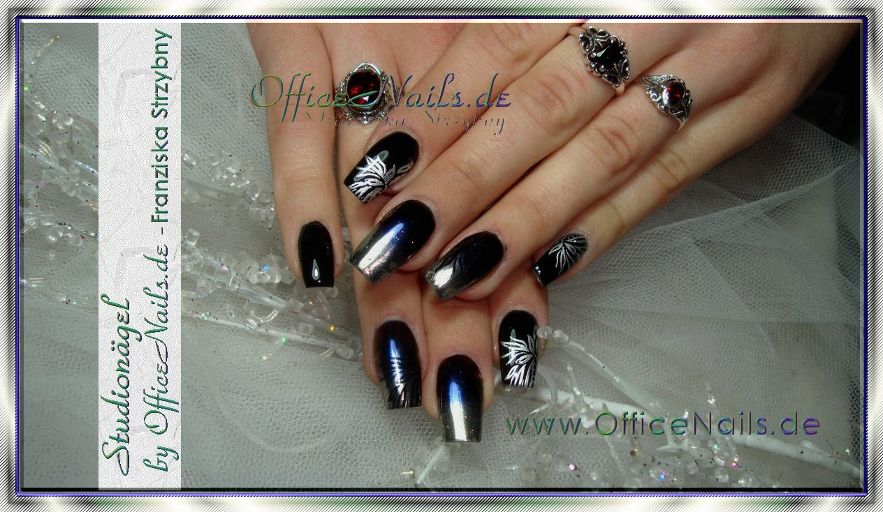 Nageldesign Mit Schwarz Officenails De Ihr Nagelstudio In Leipzig Professionell