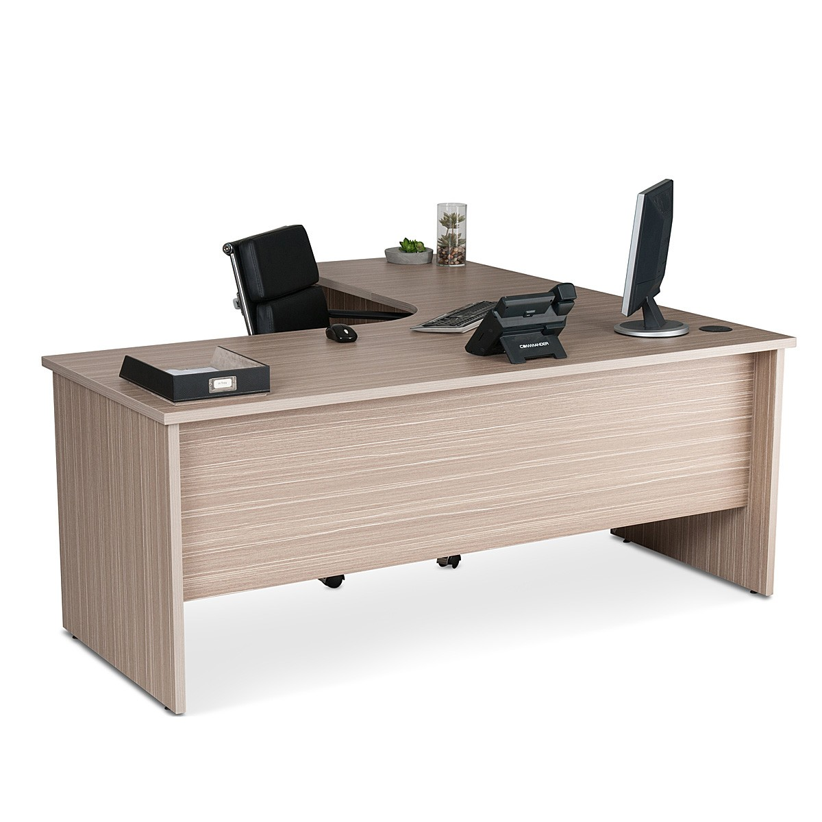 Corner Workstation Corner Workstation Office Package Tawny Linewood