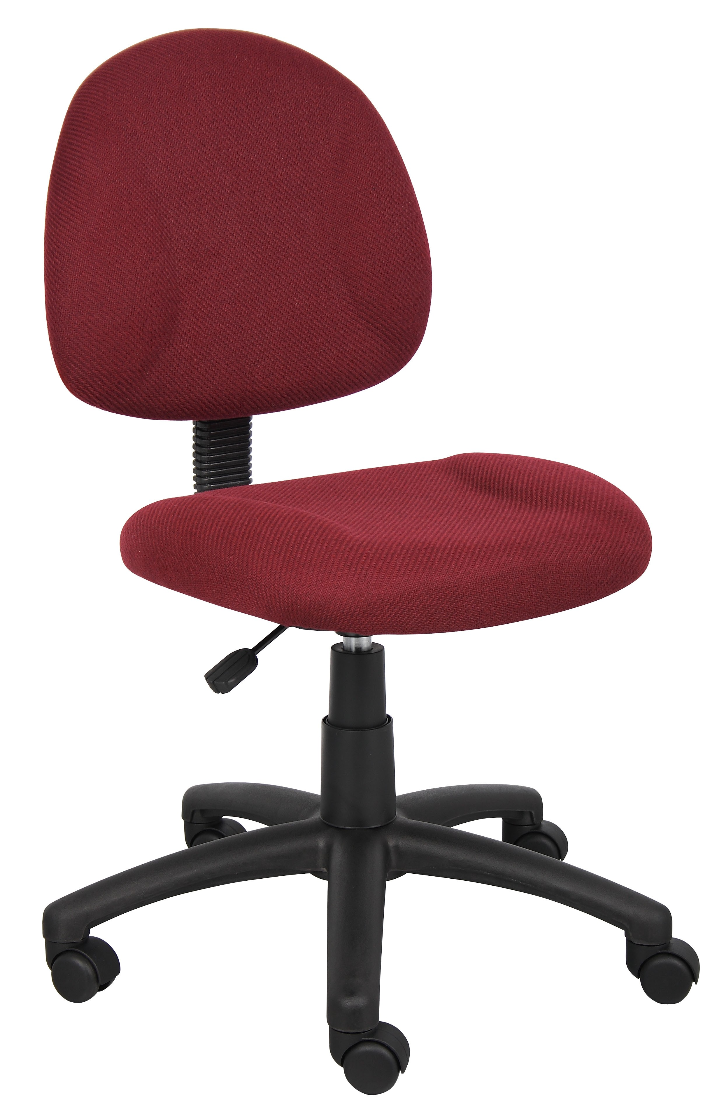 Task Chair Without Wheels Boss Burgundy Deluxe Posture Chair B315 By