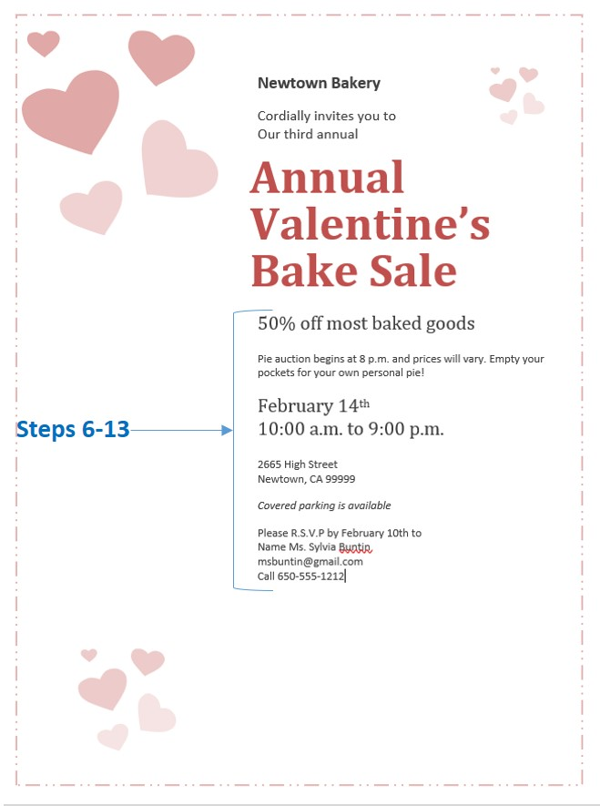 How to Create a Valentine\u0027s Day Sale Invitation using an office