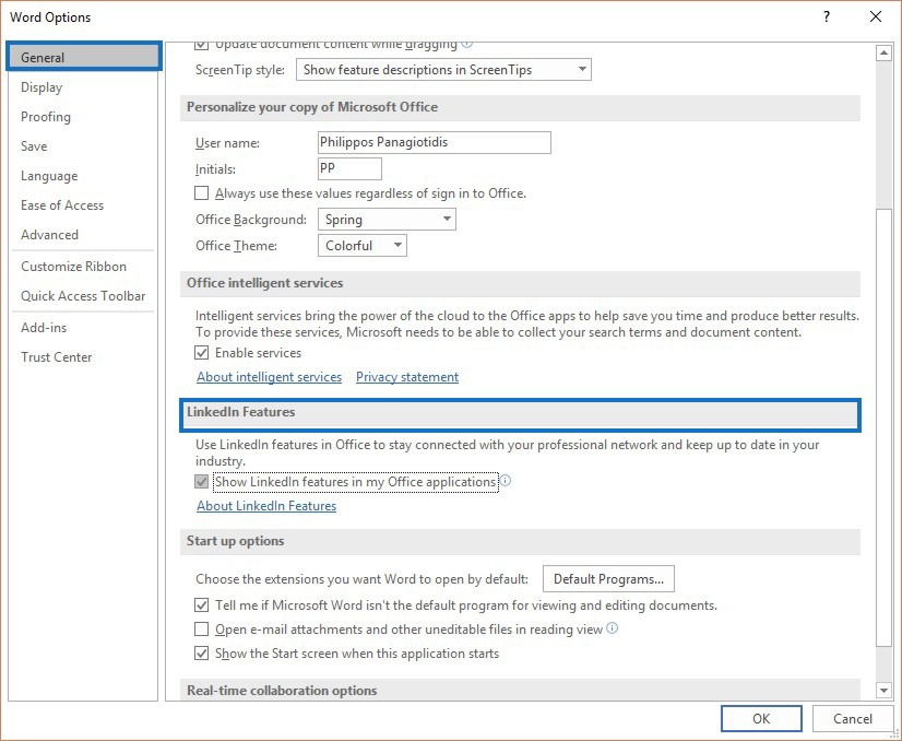Activate LinkedIn Features in Office 365 Applications officesmart