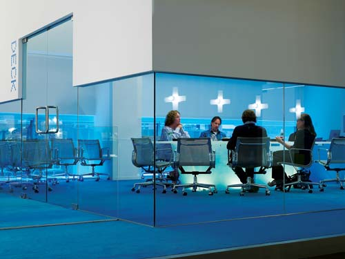 Inspiration Offices Accented In Blue - Office Snapshots