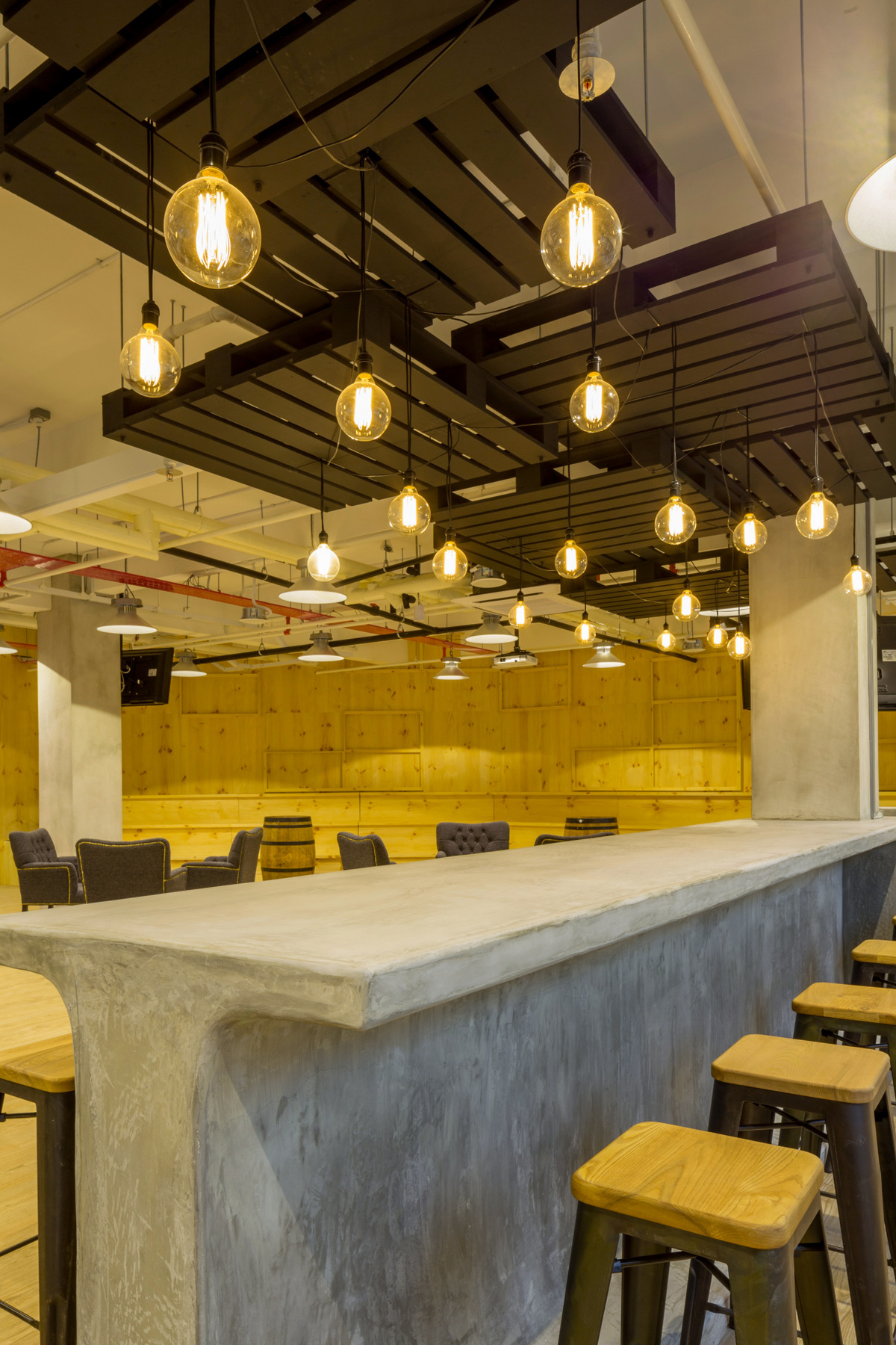 Bar Drop Lights Infocomm Investments Singapore Offices Office Snapshots