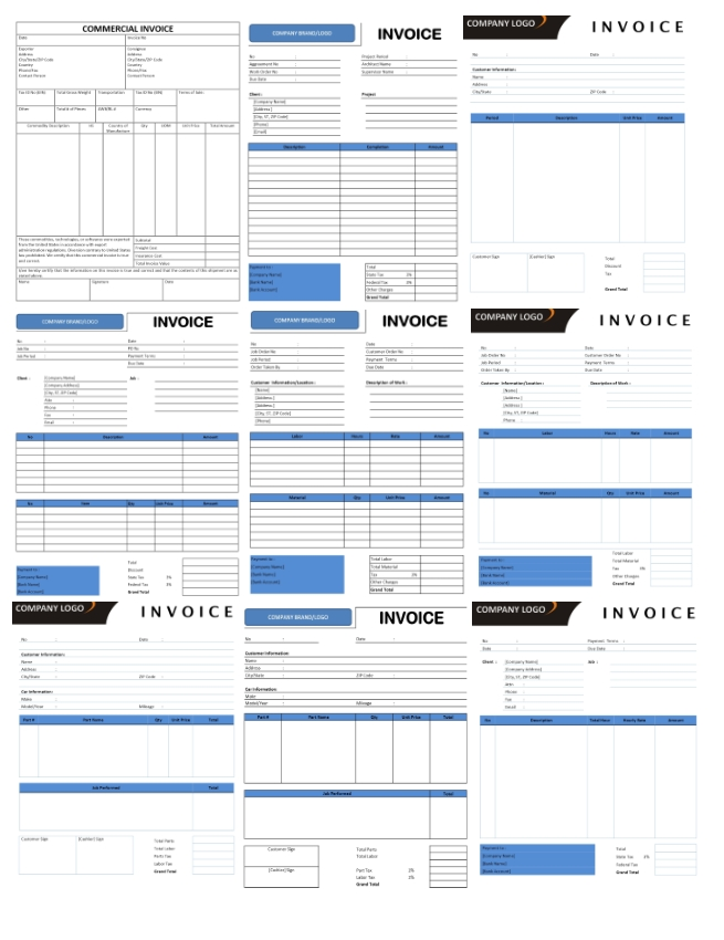 Invoice Templates Microsoft and Open Office Templates - microsoft office invoice template