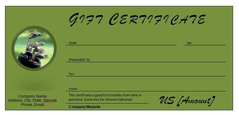 Golf Certificate Template Costumepartyrun