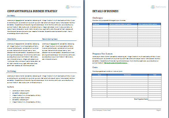 Business Proposal Template For Microsoft Word – Proposal Template Microsoft Word