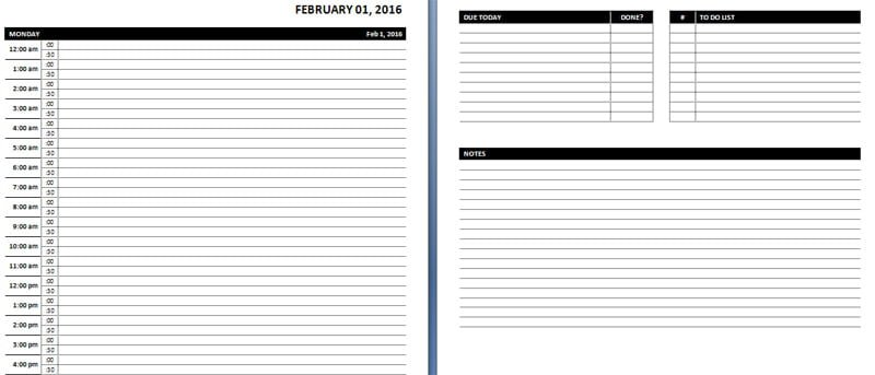Daily \ Weekly MS Word Planner Templates Office Templates Online - hourly schedule template