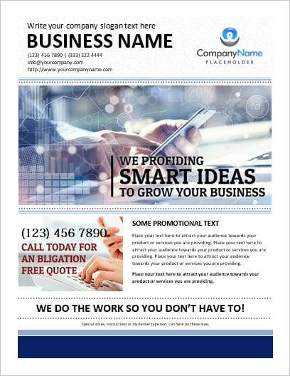 how to write a flyer for your business - Leonescapers