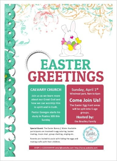 MS Word Easter Flyer Office Templates Online - easter flyer template