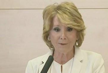 """Esperanza Aguirre dimite: """"Me siento engañada y traicionada"""""""