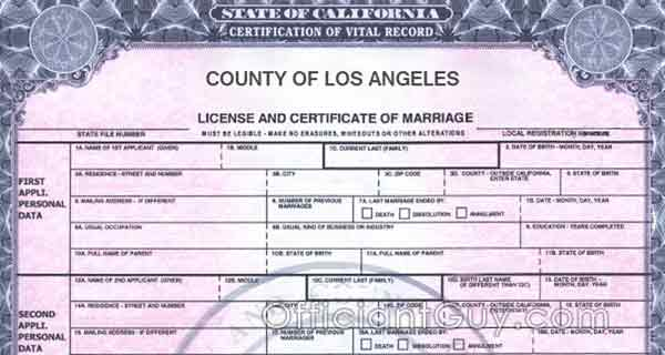 Getting Certified Copies of California Marriage Certificate - marriage certificate