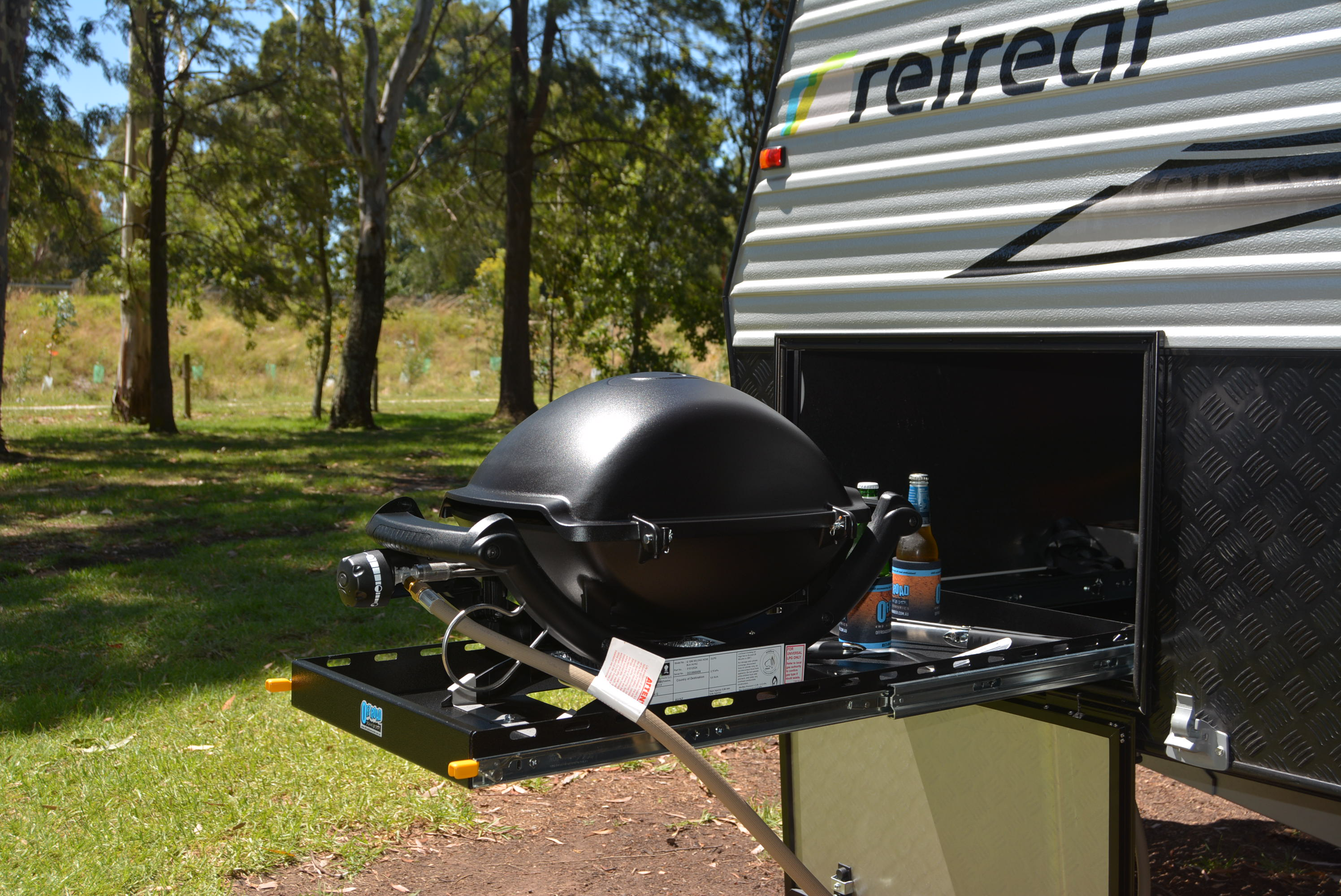 Caravan With Slide Out Kitchen Premium Bbq Slide Out System Suits Weber Baby Q In A