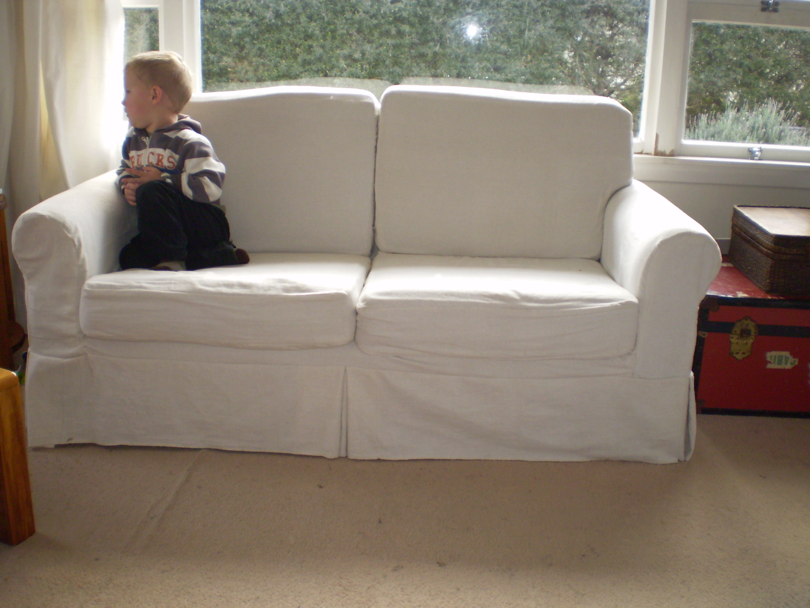 Sofa Set Cover Stitching Finished Slipcover Offsquare