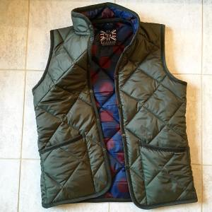 lavenhamjackets olive green gilet with jockey silks lining Autumn16 menswearhellip