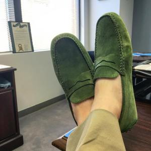 jackerwin Parker drivingshoes in green suede These loafers are ahellip