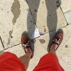 poolside with eccoshoes boatshoes and oldbullleeshorts blazin red shorts Prettyhellip